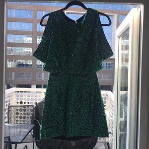H&M Sequin Back Cutout Dress